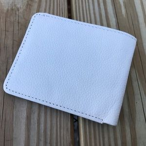 10cb1d222585c1 Handmade Accessories - Mens Wallet White Supreme Real Leather Money Clip